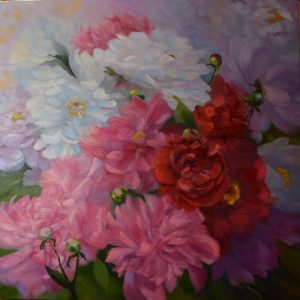 sstefanski_Peonies_24x24_Oil canvas_$995