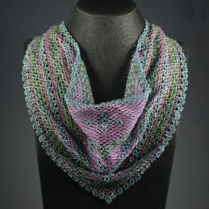 Double Diamond Beaded Scarf