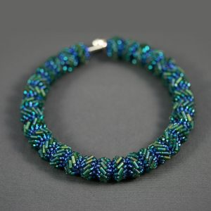 """Engage"" Woven Peacock Bangle"