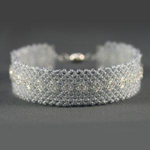Gray & Silver Net Bracelet
