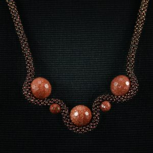 Goldstone Wave Necklace
