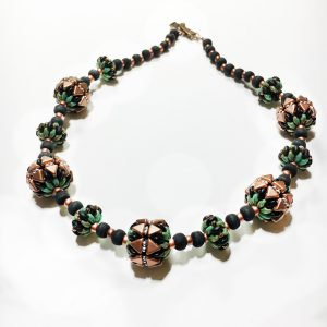 Kheops Green 5 bead 18 inch necklace