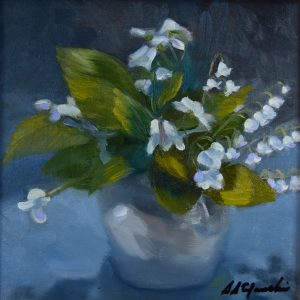 sstefanski_lily of the valley_8x8oil