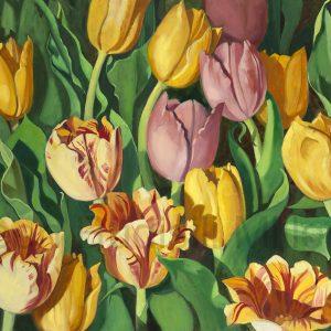 Tulip Festival 36 x 60 oil