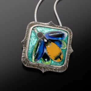 Enamel African Insect Pendant