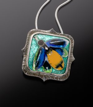 enamel-african-insect-pendant