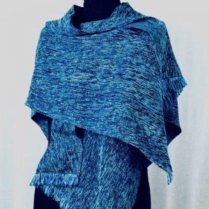 Shiny Turquoise shaw:jacket