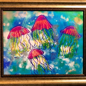 jellyfish contemporary painting